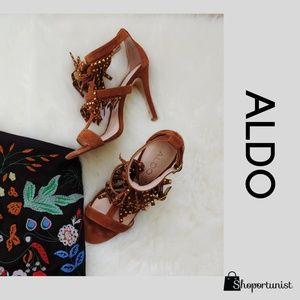 ALDO Glelian Women's T-Strap and Fringe Heels